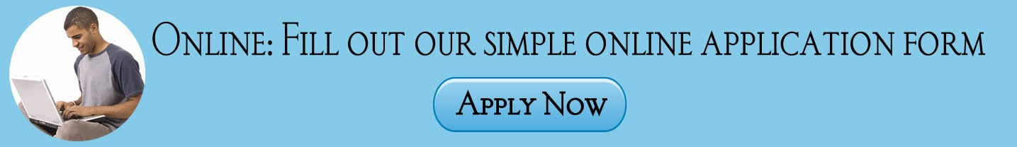 Text on the graphic says; Fill out our simply online application form. Click here to apply now.